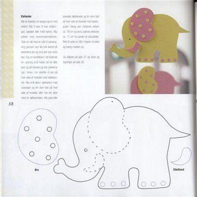 varios con moldes - lucinhamoraescpv - Álbumes web de Picasa MOVIL - elephant cut out template
