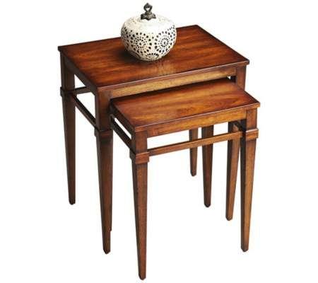 Butler Loft Set Of 2 Antique Cherry Nesting Tables | 55DowningStreet.com