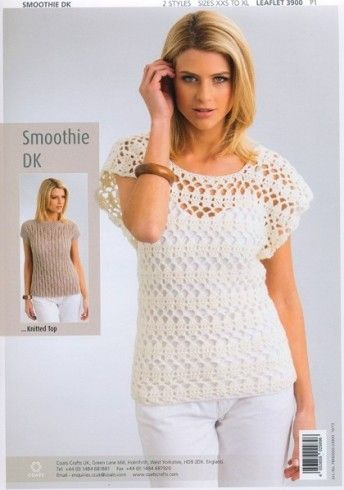 3900 Patons Summer Tops Smoothie Dk Knitting Crochet Pattern 14340 P