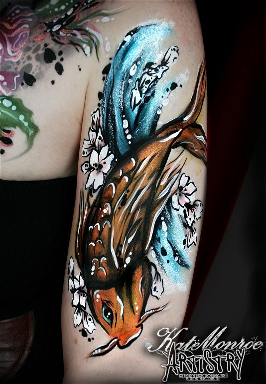 How To Paint A Tattoo Style Koi Fish Google Search With Images