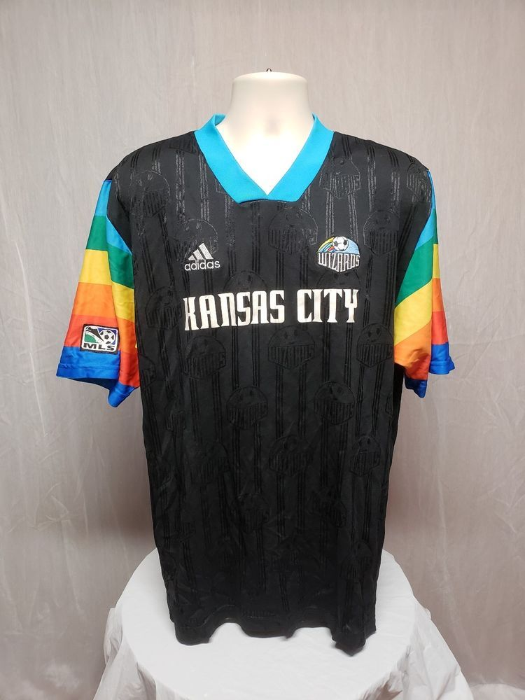 low priced ae81c a0440 Details about Vintage Kansas City Wizards Sporting KC 1997 ...