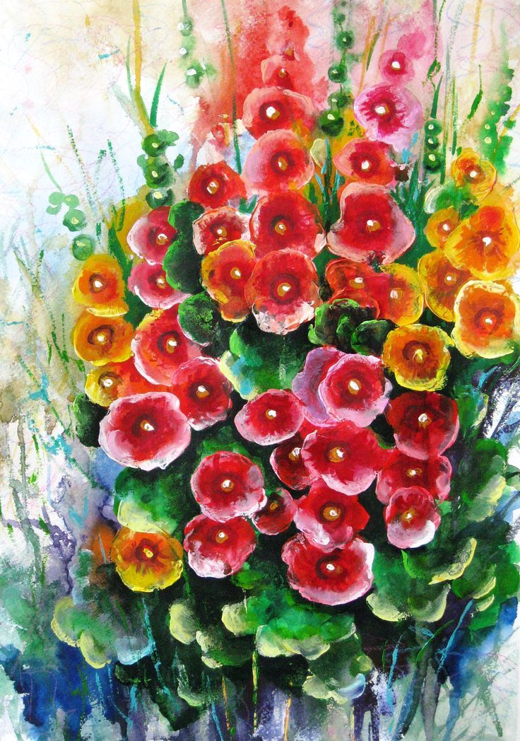 Floral watercolor painting Flower art decor Mother day gift ...