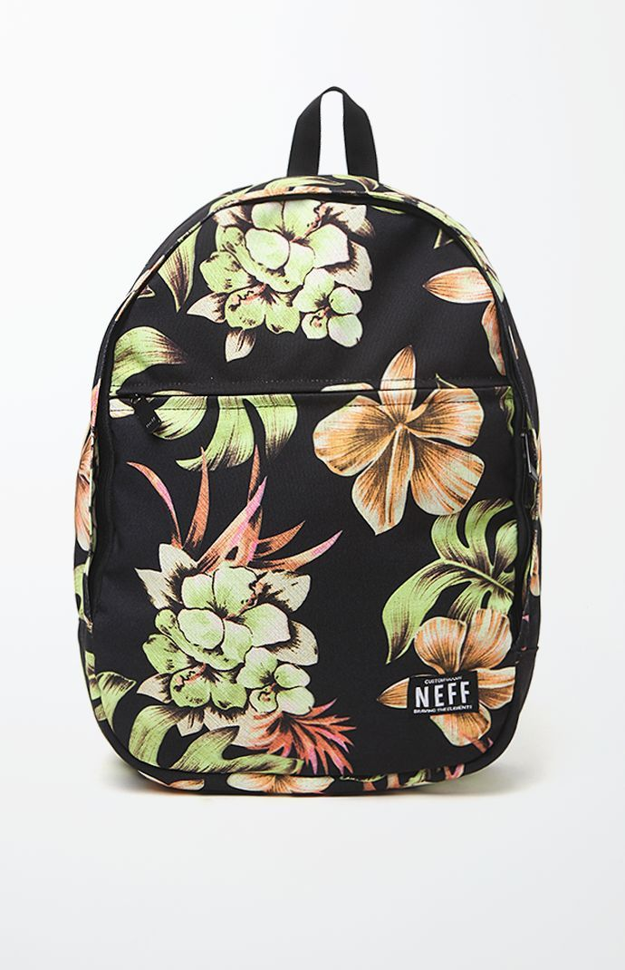 Neff Filthy Floral School Backpack – Mens Backpacks – Floral – One ...