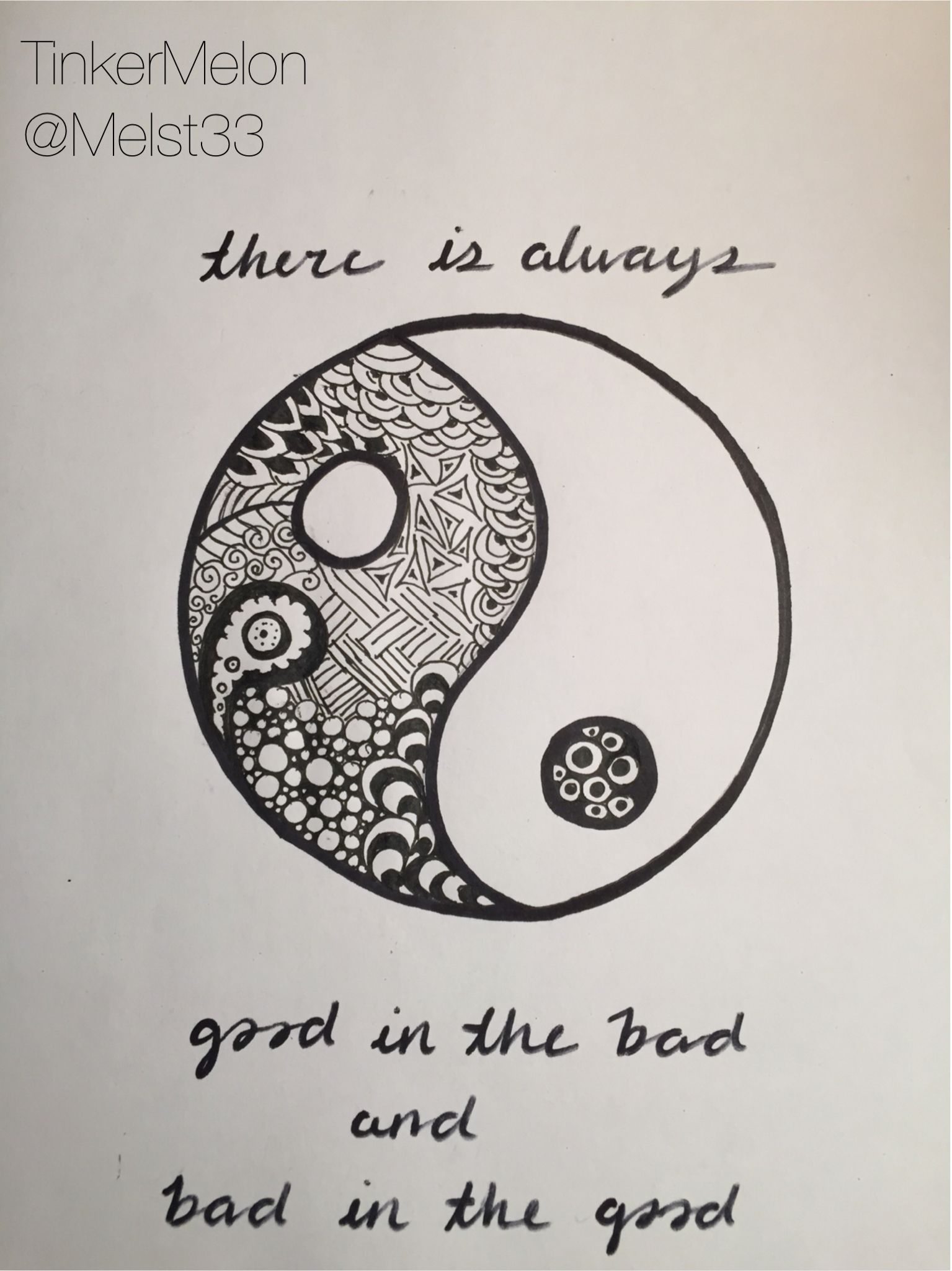 Citaten Kunst Yang Bagus : I love yin and yang l want a tattoo but