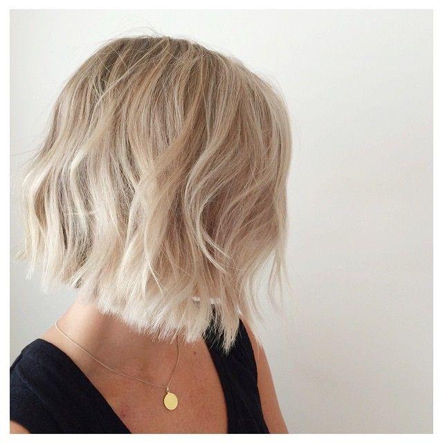 Chloe Zara On Instagram Favourite Look This Week Chop Chop For Aj Stanworth Blonde Bob Clea Hair Styles Short Blonde Haircuts Short Hair Styles