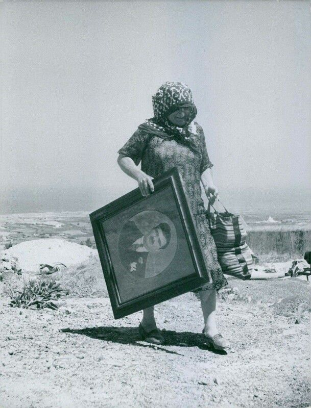 July 9, 1956 ~ Saving all she could after the big earthquake that hit Santorini...