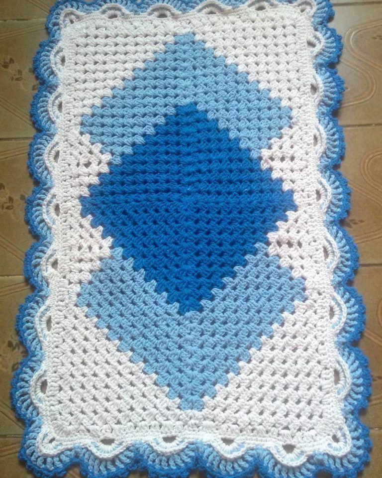 Tapete De Croche Retangular 90 Modelos E Tutoriais Para Enfeitar