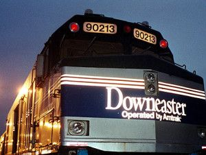 Amtrak's Downeaster runs between Brunswick, Maine and Boston, Massachusetts.