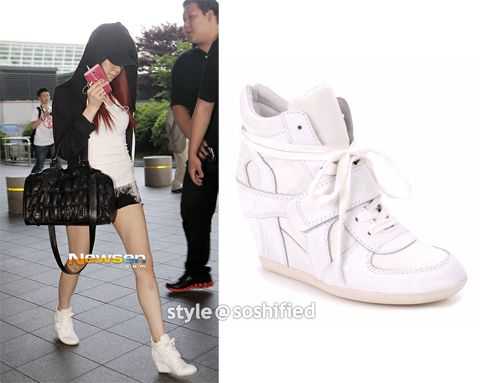 Ash bowie wedge sneakers White color worn by Tiffany in girl's generation