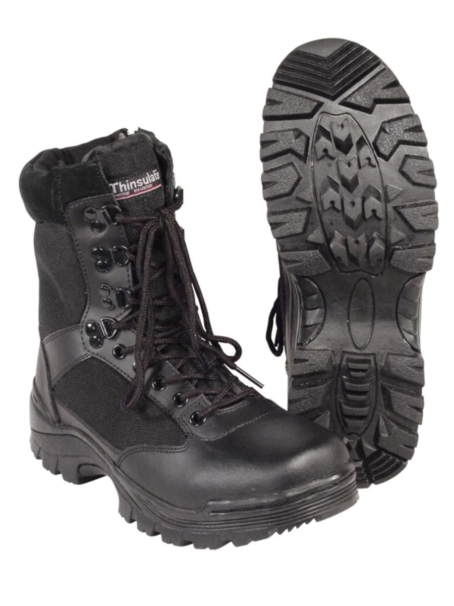 Black Tactical Police or EMS Boot w/ YKK Zipper, Size 7.5W