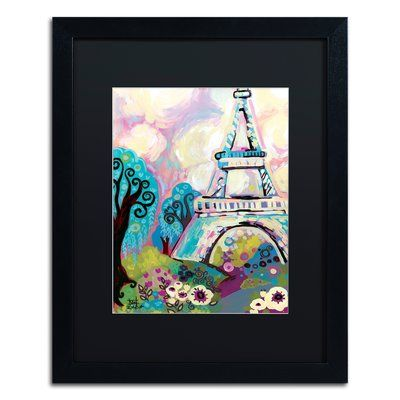 "Trademark Art 'La Dame De Fer' Framed Painting Print Mat Color: Black, Size: 20"" H x 16"" W x 0.5"" D"