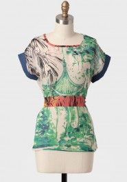 all who wander belted top by Lavand