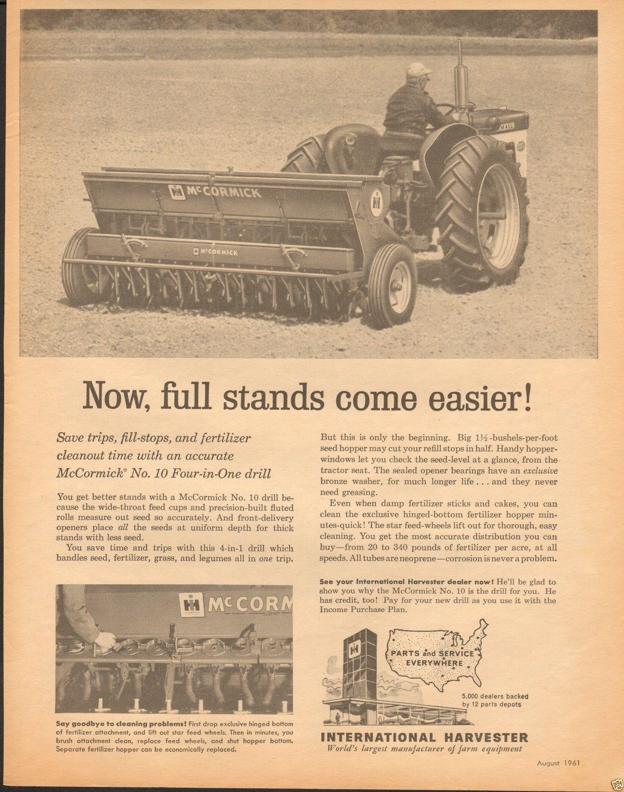 1961 International Harvester IH Farmall Tractor McCormick 10