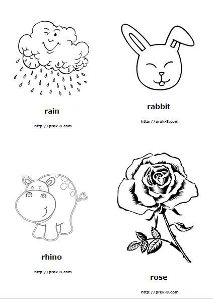 Letter R coloring pages and worksheets #LetterR #alphabet