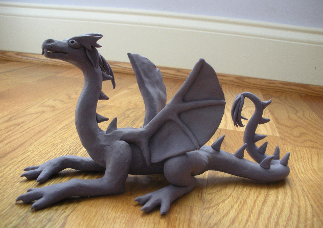 Clay Dragon  Unfortunately this cannot be followed back to it's source but looks somewhat self explanatory.