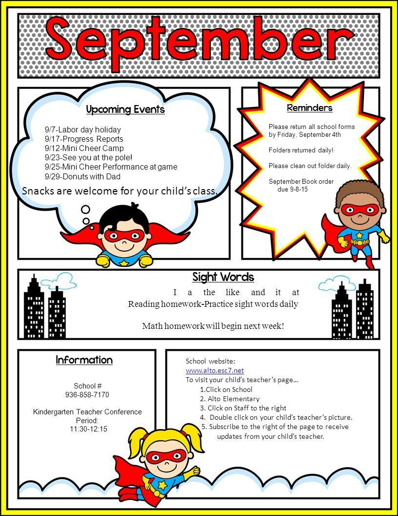 image result for superhero newsletter template teacher tools