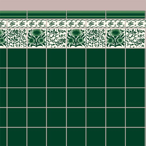Azulejos papel pinterest baldosa azulejos verdes - Azulejos y baldosas ...