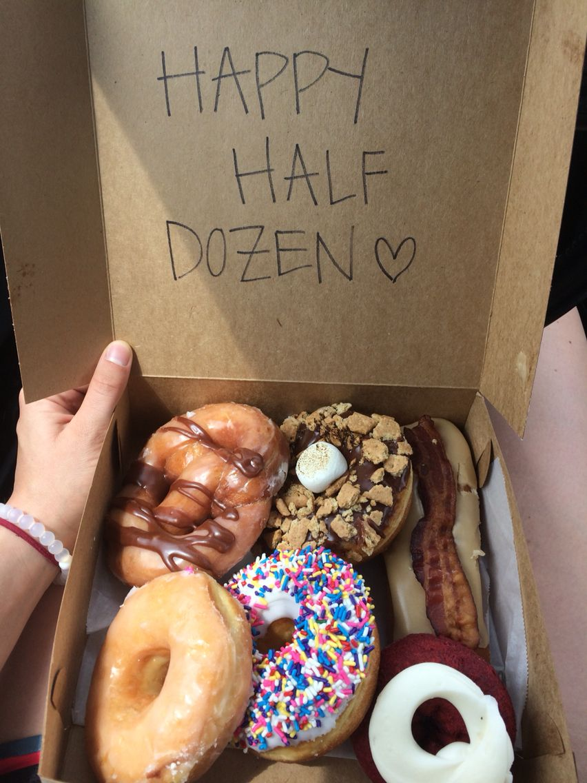 6th month anniversary gift, happy half dozen | XOXO | Pinterest ...