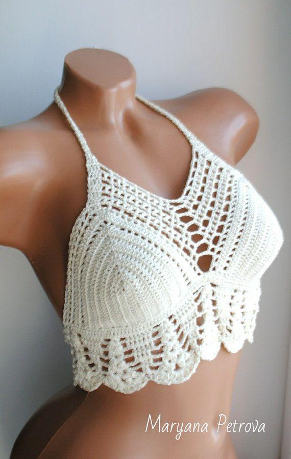 Crochet bikini top, crochet halter top | ideas a crochet | Pinterest ...