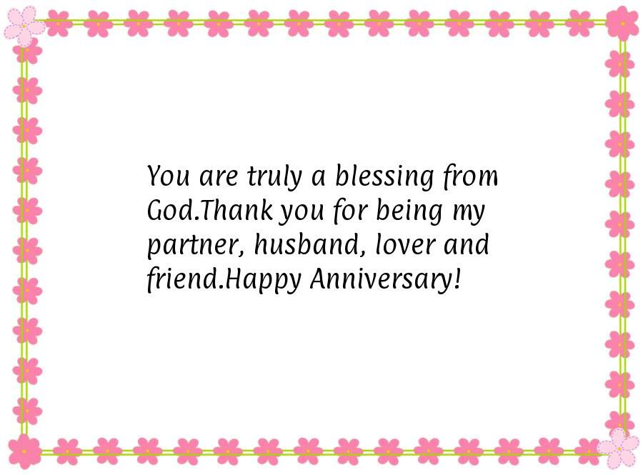 You Are Truly A Blessing From God Thank You For Being My Partner Husband Lover And Friend Anniversary Quotes For Husband Message For Husband Husband Quotes