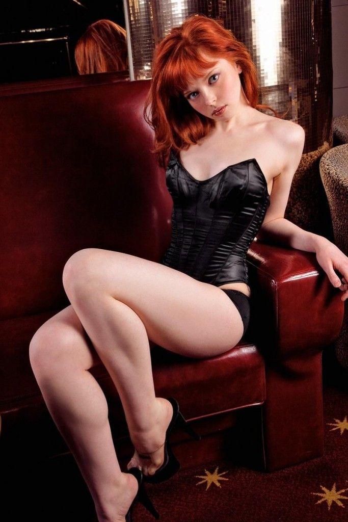 Sexy legs redhead