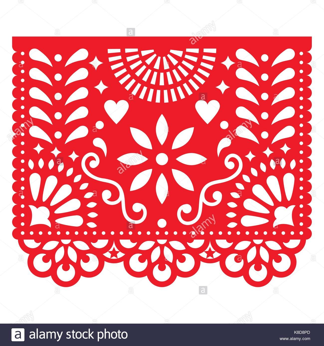 Download This Stock Vector Mexican Paper Decorations Papel Picado