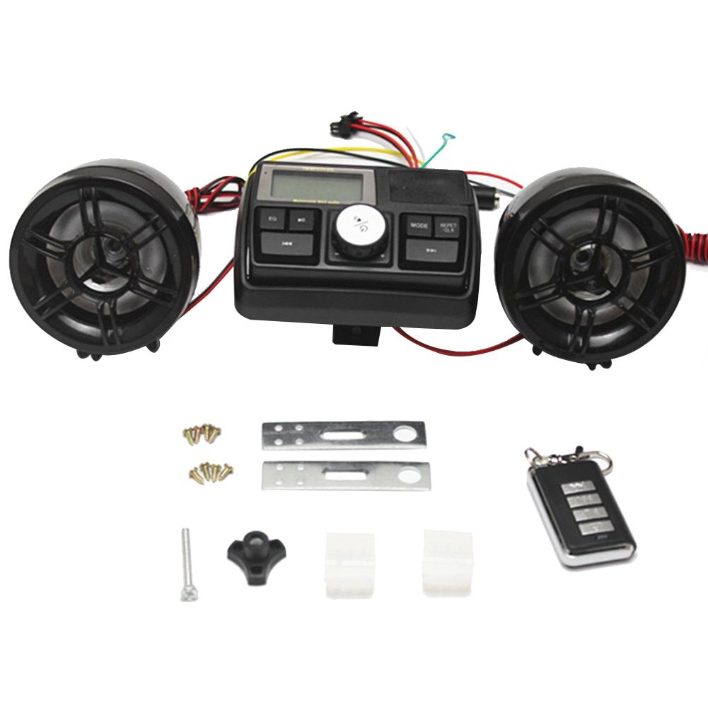 best seller anti theft motorcycle alarm sound system motor car audio mp3 fm radio stereo [ 1001 x 1001 Pixel ]