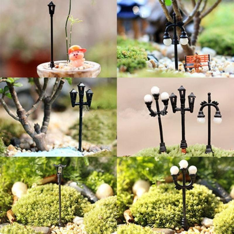 Discount 2015 Cute Garden Decor Mini Streetlights Miniature Garden Ornament For Plant Pots Fairy Crafts Decor From China | Dhgate.Com
