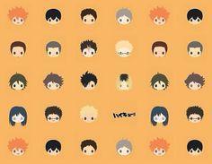 I want these as emoji's in my phone!! Haikyuu