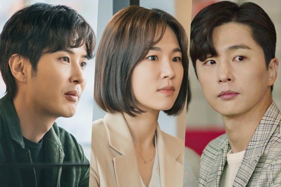 """My Unfamiliar Family"" Previews Unpredictable Love Triangle Between Kim Ji Suk, Han Ye Ri, And Shin Dong Wook"