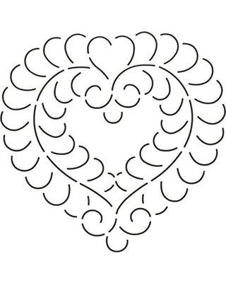 Don't Miss This Bargain: Quilting Creations Feather Heart Quilt Stencil