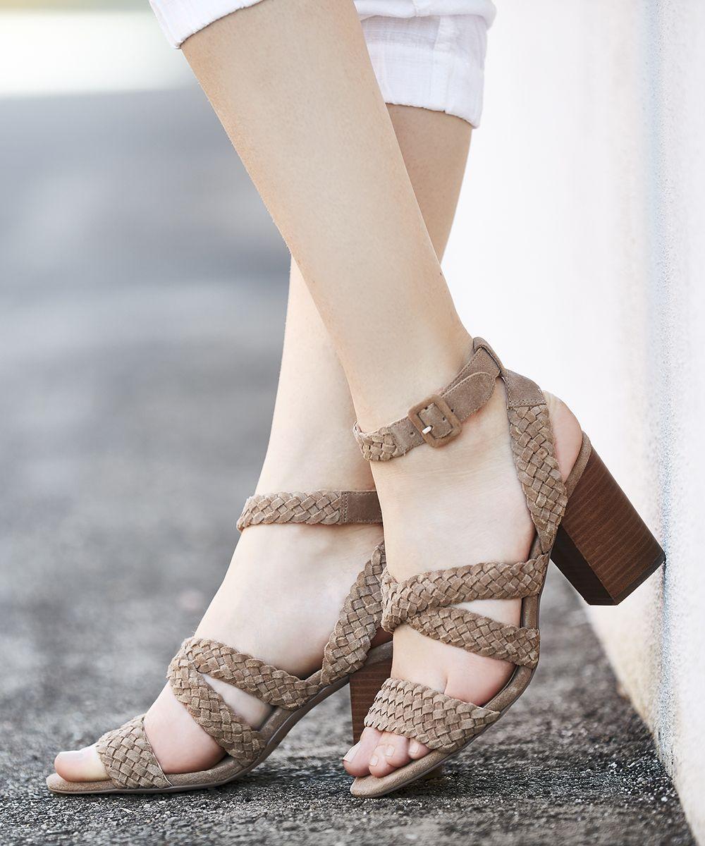 db7084c7cbf Braided block heel sandals
