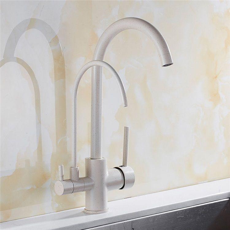 キッチン蛇口 台所蛇口 冷熱混合栓 蛇口一体型浄水器 浄水 原水切替 2