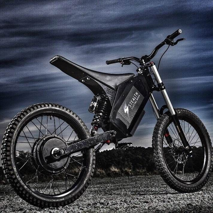 Stealth Hurricane H 52 50mph W 30 Mile Range Electric Bike Diy Electric Mountain Bike Best Electric Bikes