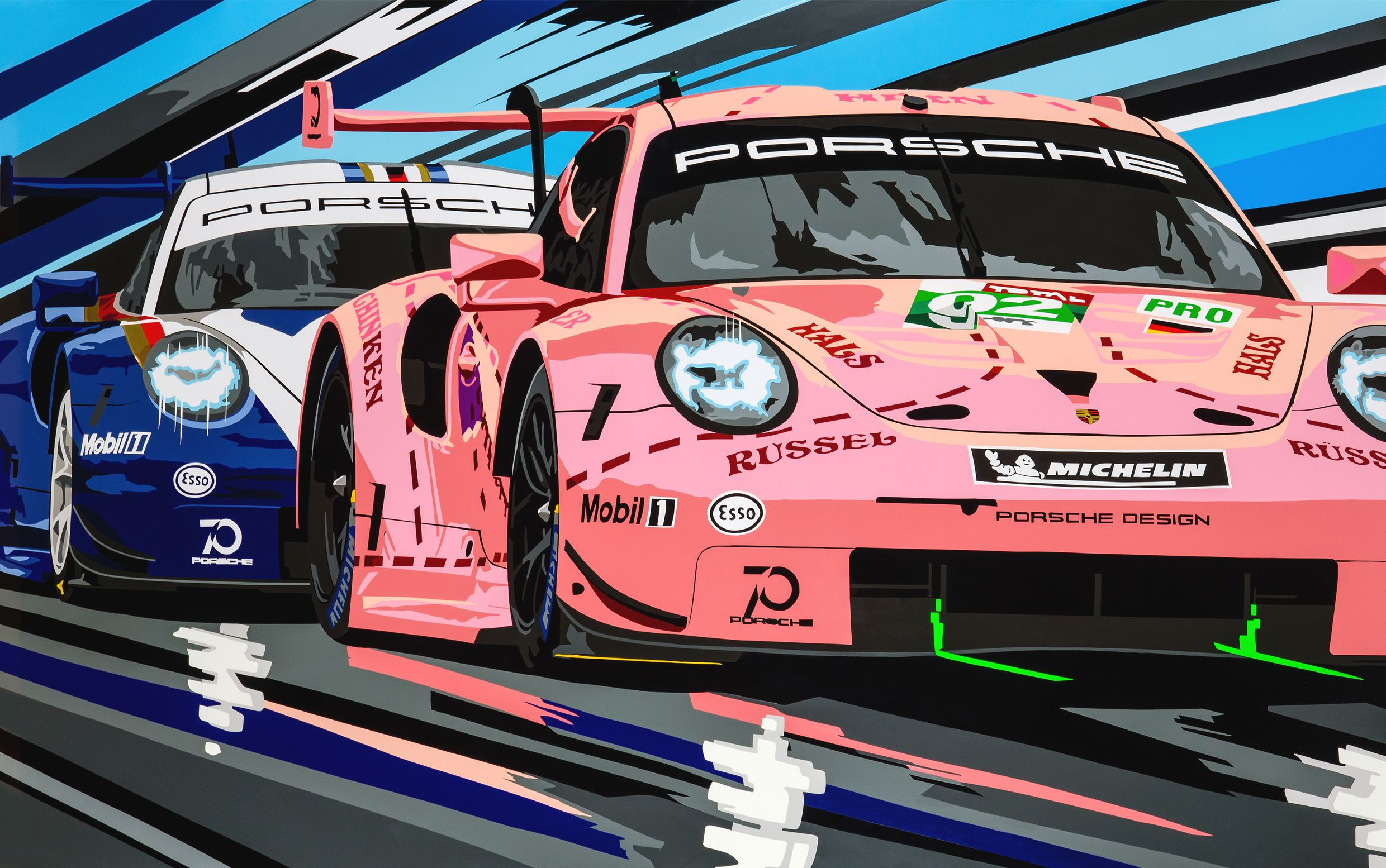 Porsche 1 2 The Gpbox Motorsport Art Porsche Racing Art
