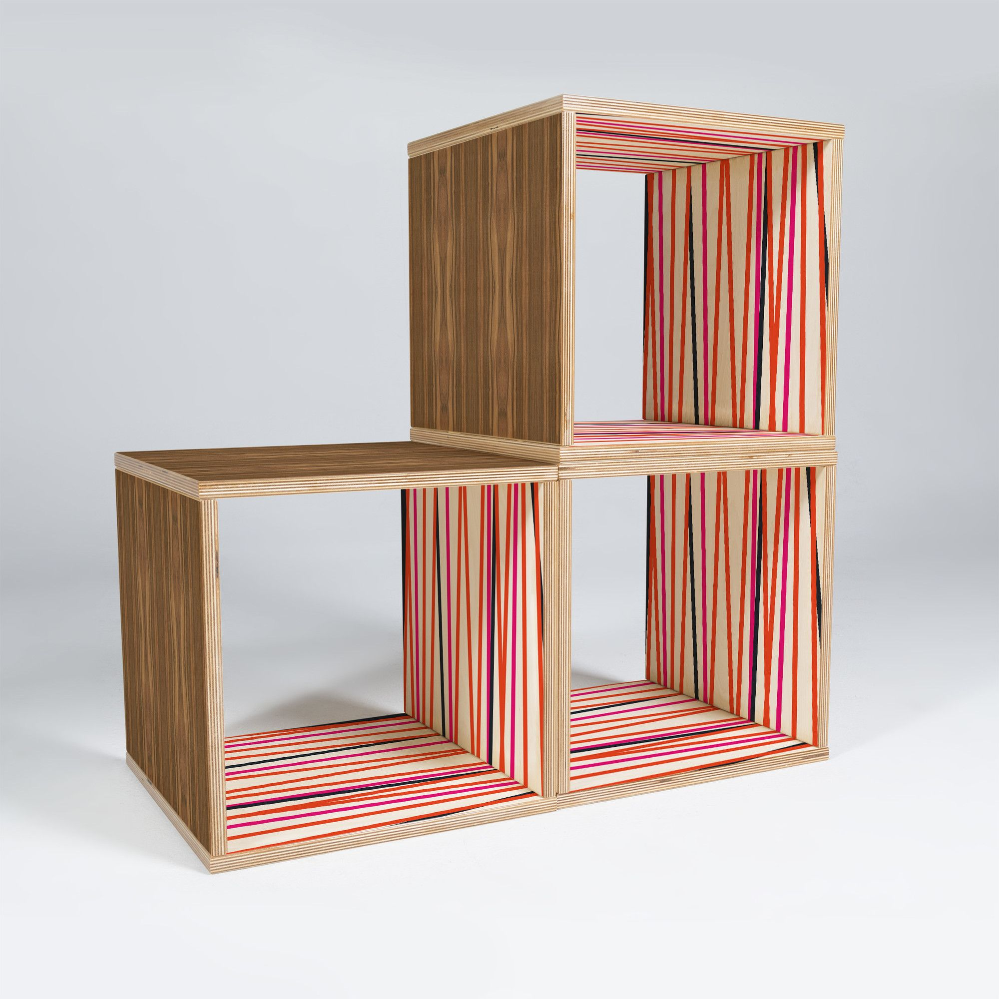 Best Banda Stripe Warm 15 Cube Unit Bookcase Horizontal 400 x 300