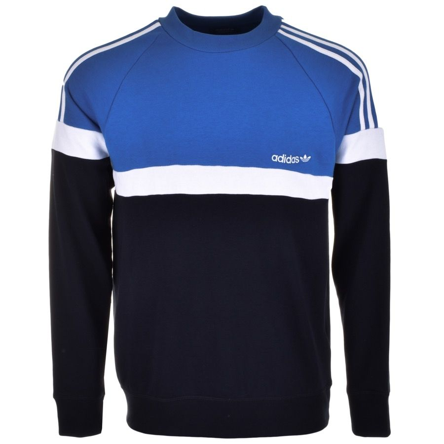Adidas Originals Itasca Sweatshirt Navy Designer Clothes For Men Sweatshirts Menswear [ 900 x 900 Pixel ]