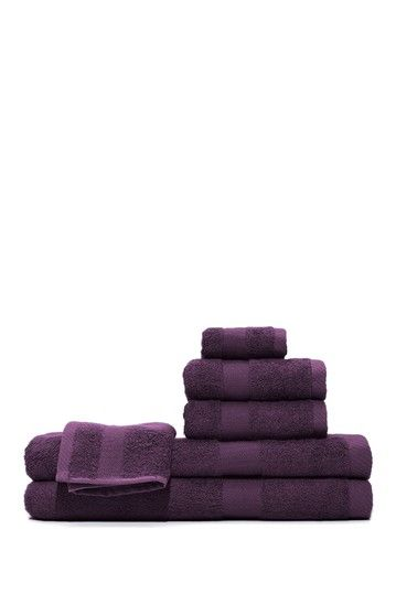 Bamboo Viscose 6 Pc Towel Set Towel Set Purple Home Bamboo Towels