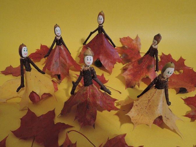 Мастер-класс по изготовлению поделки из природного материала «Осенний бал» - Для воспитателей детских садов - Маам.ру