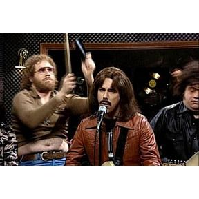 Will Ferrell laying down some cowbell.