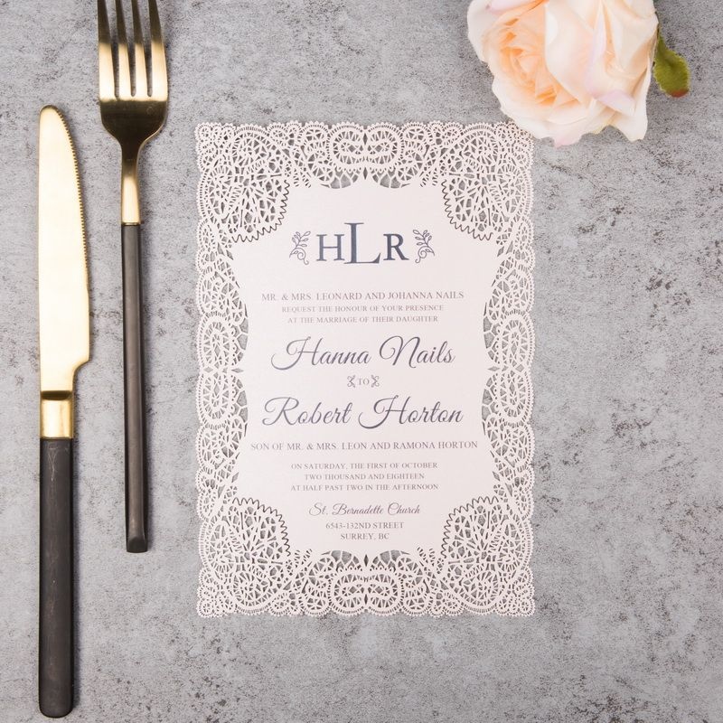 100 x Exquisite Lace Flat Laser Cut Offer | Wedding Invites ...
