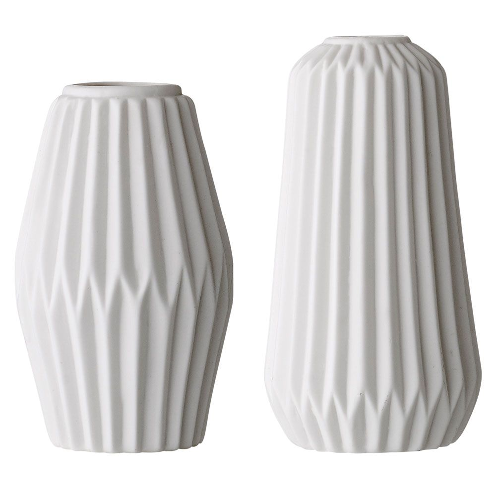 porcelain vase 2er pack weiss bloomingville things i like pinterest porzellan origami. Black Bedroom Furniture Sets. Home Design Ideas