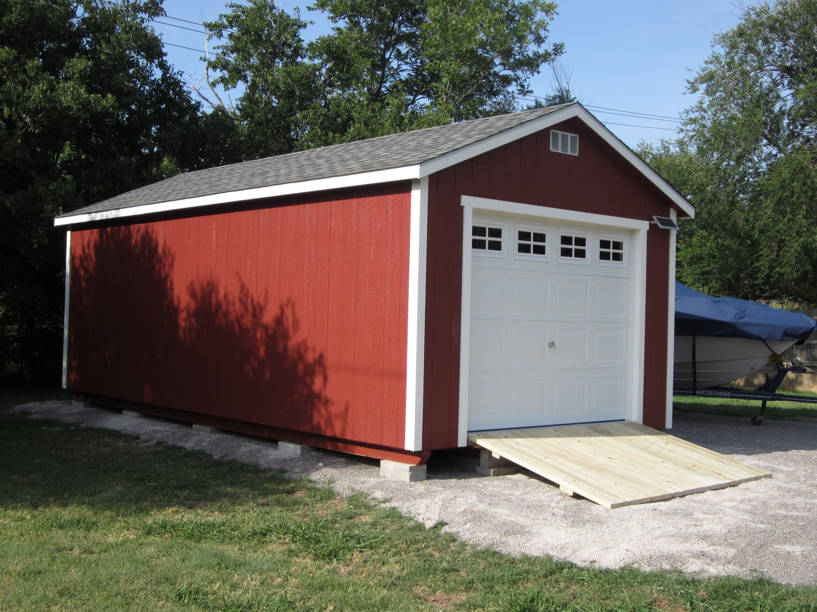 Portable metal garages, often made of steel, are a good