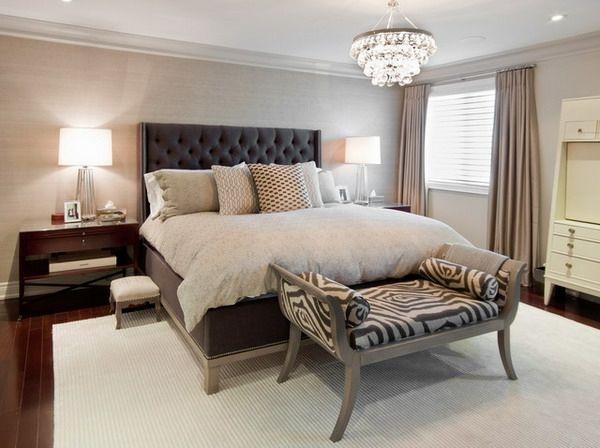 Charming Wohnideen Schlafzimmer Design Modern Beige Polsterbett Weiß | Home ...   Schlafzimmer  Gestalten Farben Ideas