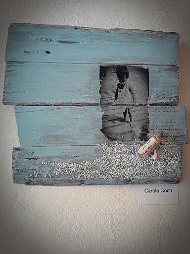 Mediterráneo by ch... #chbycarolacoch #paint #art #transfer #sweet #scrap #scrapbooking #mixedmedia #wood #homedecor