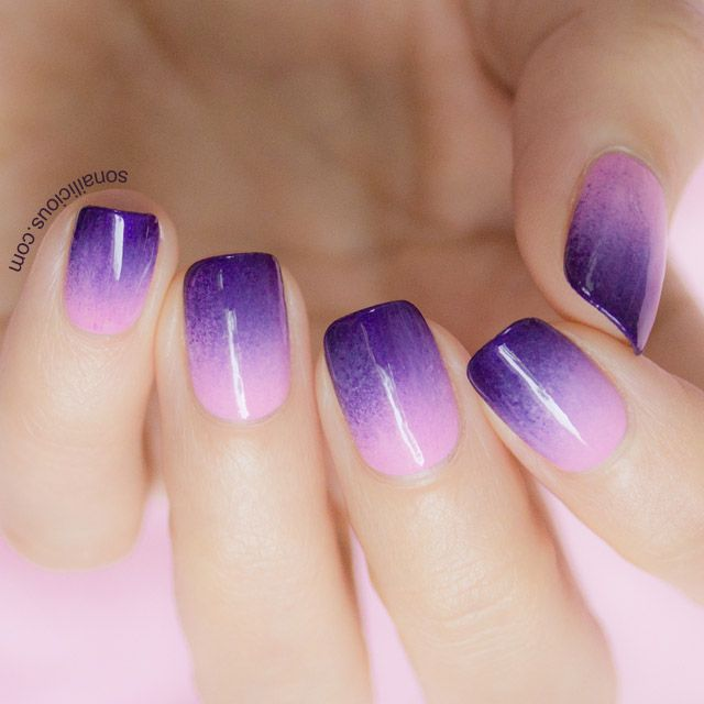 Fing Rs Edge Ombre Nails Kit Review Purple Ombre Nails Ombre Nail Designs Purple Acrylic Nails