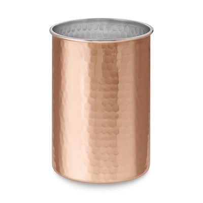 Hammered Copper Utensil Holder Williamssonoma
