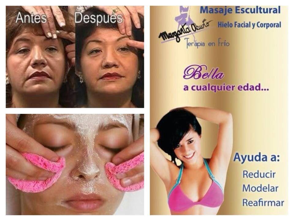 El Hielo Facial te ayuda a: •Hidratar y Reafirmar la piel •Moldear Pómulos  •Desvanecer Arrugas •Disminuir Papada