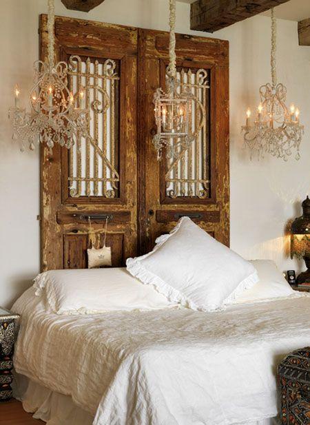 Respaldo de cama artesanal decoraci n pinterest cama - Cabeceros artesanales ...