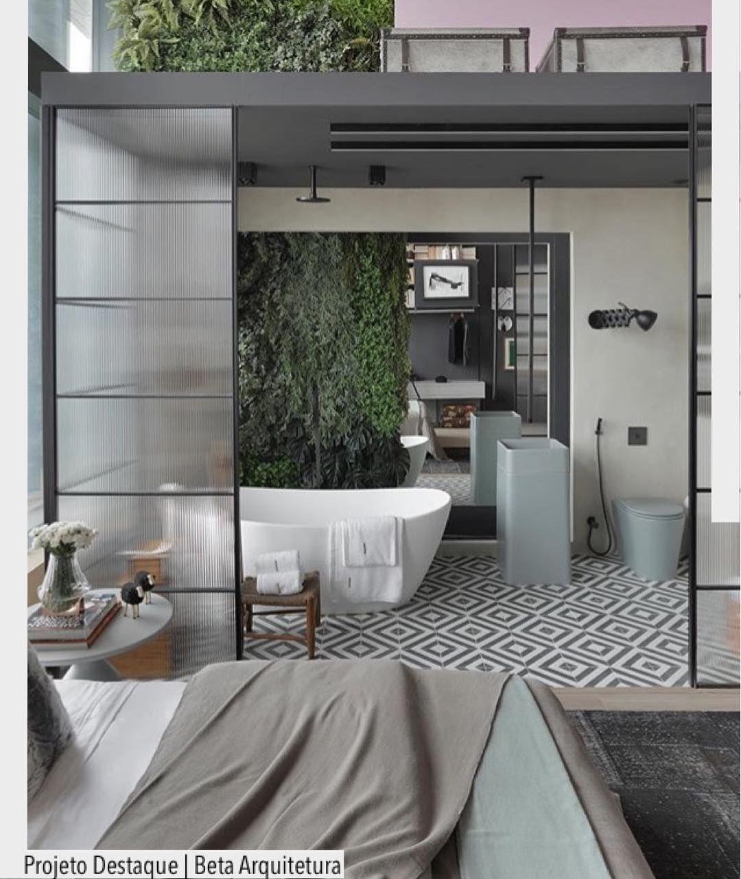 Quarto Integrado Com Banheiro Na Casa Cor Rio Lindo Ambiente  ~ Quarto Integrado Com Banheiro E Modelo De Quarto De Casal
